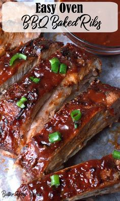 Oven Baked BBQ Ribs This baked ribs recipe is truly the only recipe you will ever need. Fall off the bone pork ribs that are full of flavor, always a huge crowd pleaser! Oven Baked Pork Ribs, Bbq Pork Ribs, Bbq Ribs Marinade, Pork Back Ribs Oven, Baked Spare Ribs, Oven Roasted Ribs, Cooking Pork Ribs, Babyback Ribs In Oven, Rub For Pork Ribs