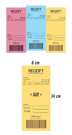 텐바이텐 10X10 : RECEIPT 메모지 (옐로) Layout Design, Print Design, Branding And Packaging, Branding Design, Graphic Design Posters, Graphic Design Inspiration, Ticket Design, Journal Stickers, Stickers