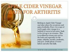 Apple Cider Vinegar Bath for Arthritis
