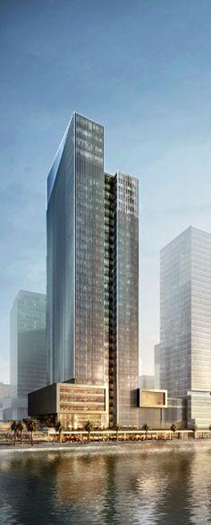 National Bank of Abu Dhabi (NBAD), Al Maryah Island, Abu Dhabi, UAE designed by Gensler :: 31 floors, height 173m