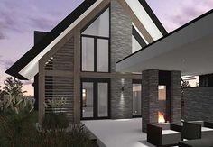 Eigentijdse woning met rieten kap wit stucwerk en houtaccenten