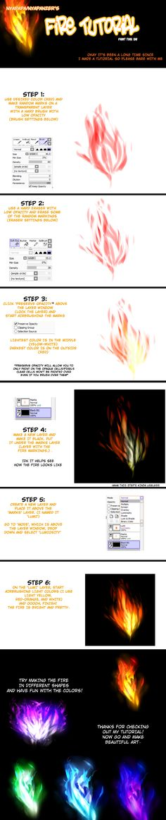 Fire Tutorial for Paint Tool SAI by Nyapapa.deviantart.com on @deviantART
