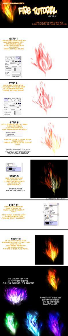 Fire Tutorial for Paint Tool SAI by Nyapapa.deviantart.com on @deviantART