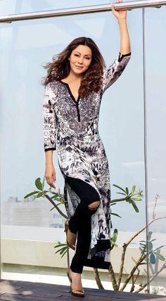 Embroidered Jersey Tunic - Get Off Boho Fashion Over 40, Indian Fashion, Designer Wear, Designer Dresses, Diwali Outfits, Dressing Sense, Western Outfits, Diy Dress, Indian Dresses