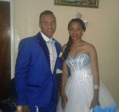 White & Blue Matric Dress Sel: 083 982 2859