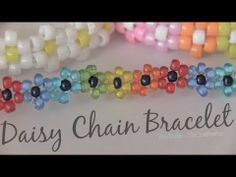 ▶ Daisy Chain Bracelet - Beaded Flower Jewelry - How To - YouTube