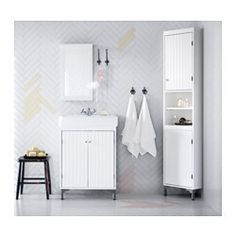 SILVERÅN Armario lavabo+2prtas - blanco - IKEA