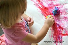 Mamas Like Me: Bubble Wrap Transportation Painting