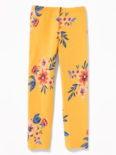 Old Navy - Old Navy Girls Printed Cropped Leggings For Girls Yellow Floral Size L in Adrian Toddler Boy Gifts, Baby Girl Gifts, Toddler Girl, Old Navy Girls, Girls 4, Shop Old Navy, Girls In Leggings, Floral Leggings, Girls Shopping
