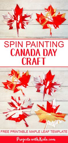 fall art projects for kids Spin Painting Canada Day Craft Arts And Crafts For Teens, Art And Craft Videos, Art Activities For Kids, Art For Kids, Art For Preschoolers, Art For Toddlers, Painting Activities, Fall Art Projects, Craft Projects For Kids