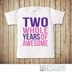 Girl Second Birthday Shirt Two Year Old By MaleyDesigns First Shirts Fourth