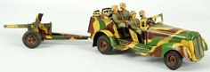 There are some amazing pre-war German tin toys up for auction at Morphy's.