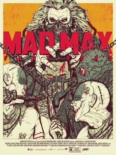 """「マッドマックス 怒りのデス・ロード」 Mad Max: Fury Road by Boneface. 18""""x24"""" screen print. Hand numbered. Edition of 275. Printed by D&L Screenprinting. US$45"""