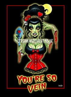 Vintage Zombie Art Print  OPTION 2  by Marcus by TheGothabillyShop