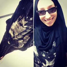 Really feeling like me today. Only way I could feel more like myself would be if I put on make up and maybe purple lipstick! I love when I feel comfortable in my own skin. #ootd #hijab #blackismyhappyplace