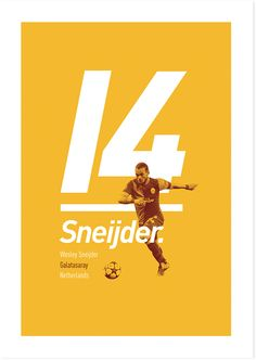 A series of poster prints of famous football players.