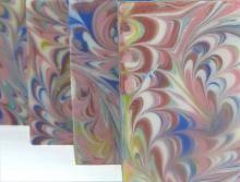 Designer Soap | Kushmoma Natural handmade Artisan Soap and Bath & Body products.  Wonderful peacock swirl
