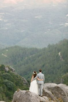 wedding on a mountain top.