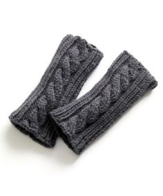 These easy cable wristers are perfect for a beginner knitter looking to step it up a notch