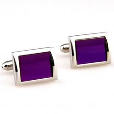 Purple Crystal Cufflinks AU$39.99 #Mens #Cufflinks