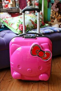 Hello Kitty Mini Trolley Travel Suitcase and like OMG! get some yourself some pawtastic adorable cat apparel! Hello Kitty Suitcase, Hello Kitty Purse, Pink Hello Kitty, Here Kitty Kitty, Sanrio, Kawaii, Yamaguchi, Hello Kitty Rooms, Everything Pink