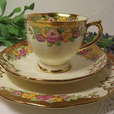 "Vintage  ""Cambridge"" Royal Albert Teacup, Saucer , Teaplate"