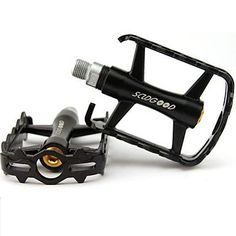 "Schwin Style Lowrider Krate Bicycle Pedal Black Gold 1//2/"" Cruiser 202614"