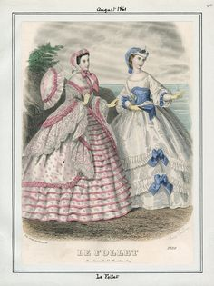 In the Swan's Shadow/Civil War Women — Le Follet, August 1861. LAPL Visual Collections.