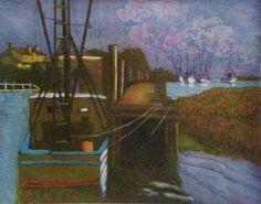 Wharf at Shem Creek #2 by Joseph Cave