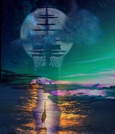Sailing ship - made by Dave L Walli with Bazaart #collage
