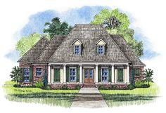 FAVORITE!!! Harris Large Acadian Style House Plan Elevation