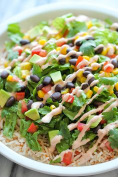 Trying out this easy burrito bowl recipe this weekend.