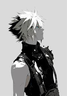 Final Fantasy Cloud, Final Fantasy Artwork, Final Fantasy Characters, Final Fantasy Vii Remake, Fantasy Series, Cloud And Tifa, Cloud Strife, Final Fantasy Collection, Ghost Pokemon