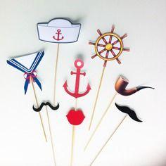 10 brochettes  sur le thème marin pour photobooth