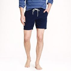 "J.Crew - 6"" swim trunk in tonal seersucker"