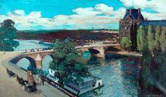 The Seine, Paris, 1907 by Alexander Jamieson (Scottish 1873-1937)