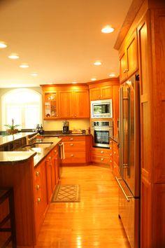 Choosing Your New Kitchen Cabinets Dark Grey Kitchen Cabinets, Cherry Wood Cabinets, Cottage Kitchen Cabinets, Kitchen Cabinet Colors, Island Kitchen, Semarang, Dining Room Design, Kitchen Design, Kitchen Ideas