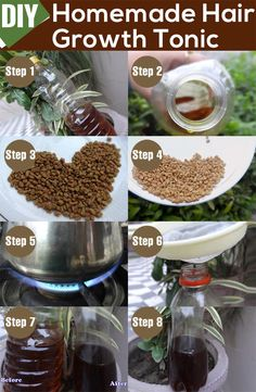 Natural Remedies For Hair Growth DIY – Homemade Hair Growth Tonic - Suffering from terrible hair related problems? Want to learn simple homemade magic potion for healthy hair? Here is a homemade hair tonic DIY for you to learn. Hair Remedies For Growth, Hair Growth Treatment, Hair Loss Remedies, Hair Growth Tips, Natural Hair Growth, Natural Hair Styles, Healthy Hair Growth, Curl Hair Styles, Healthy Hair Remedies