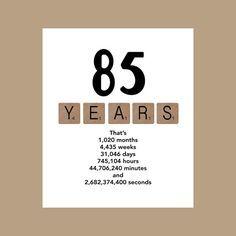 Geburtstagskarte Die Grosse 85 1931 Von DaizyBlueDesigns Auf Etsy 85th Birthday Bbq