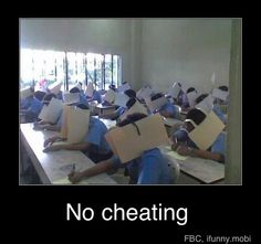 NO CHEATING!