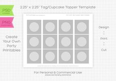 Cupcake Wrapper Template Photoshop
