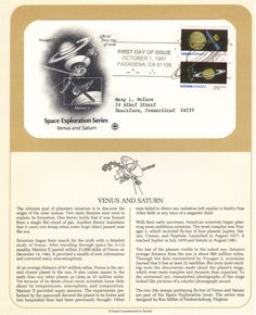 First Day Cover: Space Exploraiton First Day Covers, Space Exploration, One Day