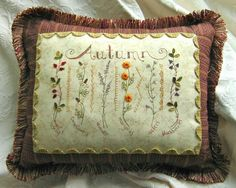 Crab Apple Hill Studio * Hand Embroidery DIY Inspiration  * Vintage Style Halloween Crazy Quilt Inspired Pillow * Embroidery Project, Quilt Block or Paper Piecing