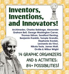 Inventors, Innovators and Inventions is designed for use by science, technology, and social studies teachers to help students organize basic facts about fourteen inventors that were chosen from a broad base of time period, nationality, gender, and field of invention/innovation. Also included are six activities to extend this resource even more!