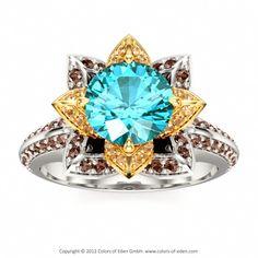 Lotus Ring #Swarovski
