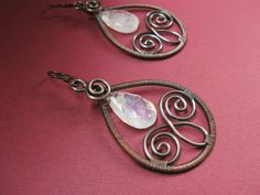 Fancy antiqued copper wire wrapped by SabineMichaelJewelry on Etsy, $36.00