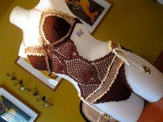 "Brown Crochet Monokini S/M/L & Custom Orders, Called: ""Emily"""