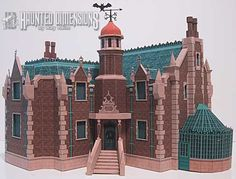 FREE printable Liberty Square Haunted Mansion model from Haunted Dimensions.