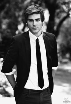 I love straight ties. and i love Zac.