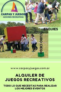 ALQUILER DE JUEGOS PARA EVENTOS Y JORNADAS RECREATIVAS - GRAN VARIEDAD - Visitá nuestra página wwwcarpasyjuegos.com.ar ALQUILER DE JUEGOS > RECREATIVOS - #Juegos #Evento #AlquilerDeJuegos #JuegosRecreativos Baseball Cards, Sports, Carp, Games, Events, Hs Sports, Sport